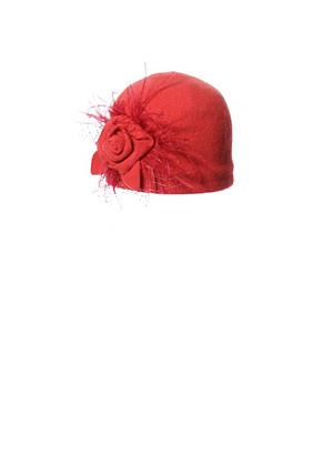 Ошатна вовняна шапочка з аплікацією ручної роботи, фото 2