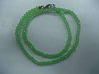 Бусы из зеленого турмалина