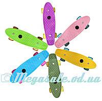 """Скейт пенни борд мини Penny Board Mini 17"""", 5 цветов: светящиеся колеса, размер 43см"""