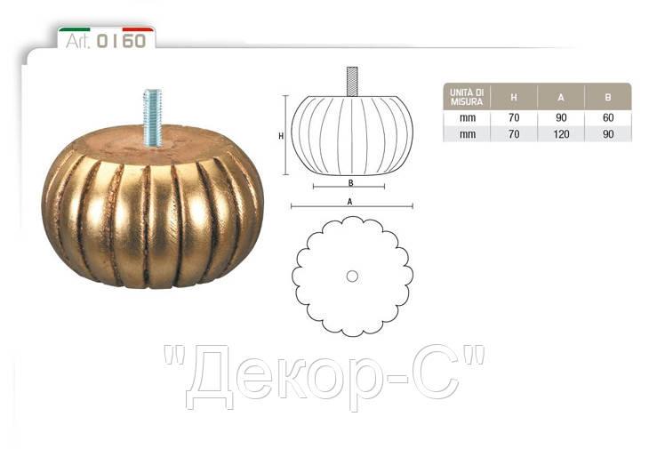 Ніжка меблева фігурна букова DV Art. 0160