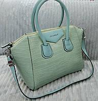 Сумка брендовая Givenchy под рептилию цвет голубой