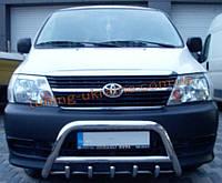 Защита переднего бампера кенгурятник из нержавейки на Toyota Hiace 2007