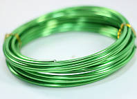 Ювелирная проволока Зеленая 2 мм 10 метров