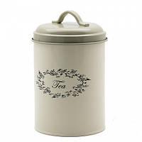 Металлическая банка для хранения чая 17х11 см