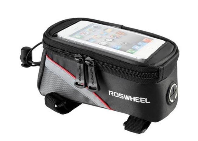 "Сумка Roswheel на раму, для телефона 5.5"", черно-красная"