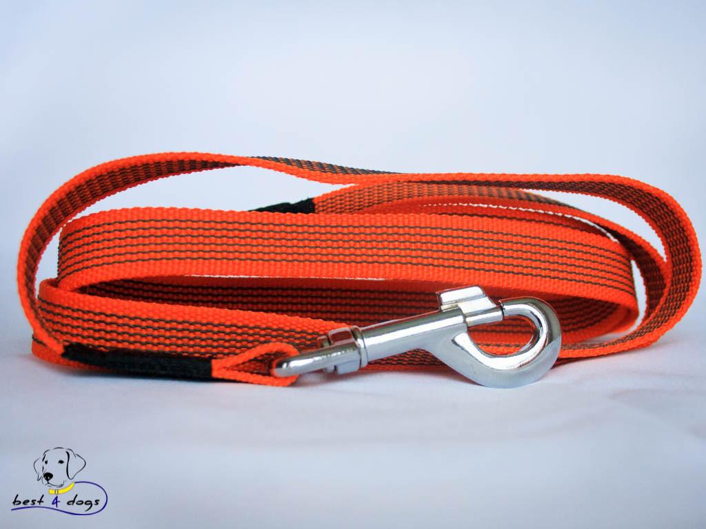 Поводок прорезиненный Оранжевый 20мм
