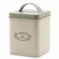 Металлическая банка для хранения чай 11*11*14 см