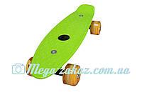 """Скейт пенни борд мини Penny Board Mini 17"""",салатовый: светящиеся колеса, размер 43см"""