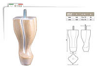 Ножка меблева фігурна букова