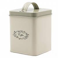Металлический контейнер для хранения кофе 11*11*14 см