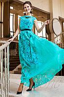 Длинное женское бирюзовое платье Лоран Jadone Fashion 42-50 размеры