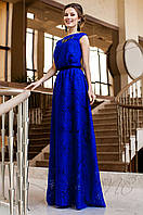 Длинное женское платье Лоран электрик Jadone Fashion 42-50 размеры