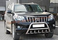 Защита переднего бампера кенгурятник из нержавейки на Toyota LC Prado 150 2009-2013