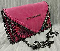 Клатч женский брендовый Stella McCartney на цепочке цвет розовый