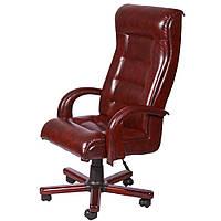 Кресло Роял Lux механизм AnyFix, вишня Неаполь-77 пятнистый