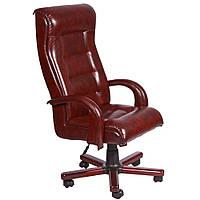 Кресло Роял Lux механизм Tilt, вишня Мадрас бордо