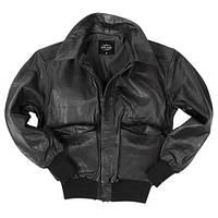 Куртка лётная кожаная американская A2 (чёрная)