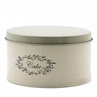 """Металлический контейнер с крышкой для хранения продуктов """"Cake"""" (22*12 см)"""
