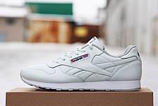 Женские кожаные кроссовки Reebok белые, фото 3