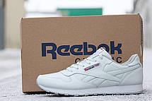 Женские кожаные кроссовки Reebok белые, фото 2