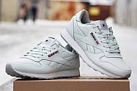 Женские кожаные кроссовки Reebok белые