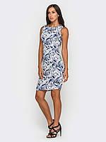 Льняное платье приталенного силуэта 90186