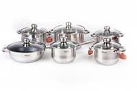 Набор посуды 12el 9xDNO Hoffner HF-8888