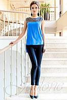 Стильная синяя туника Олимпия Jadone Fashion 42-50 размеры