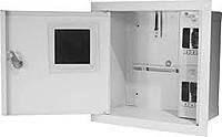 Шкаф монтажный распределительный внутренней установки с замком под 1Ф электронный счетчик Лоза ШМР-1Ф-э-4В