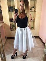 Молодежная весенняя юбка с фатина 8808290