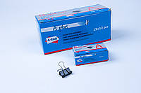Биндер 19 mm №А-860,зажим для бумаг, 144 шт/блок