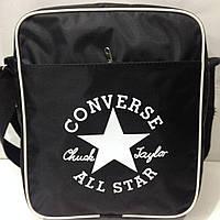 Сумка-планшет converse, converse черная с белым. Качественная сумка оптом