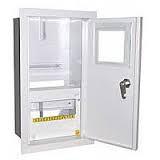 Шкаф монтажный распределительный внутренней установки с замком под 3Ф электронный счетчик Лоза ШМР-3Фэ-12В