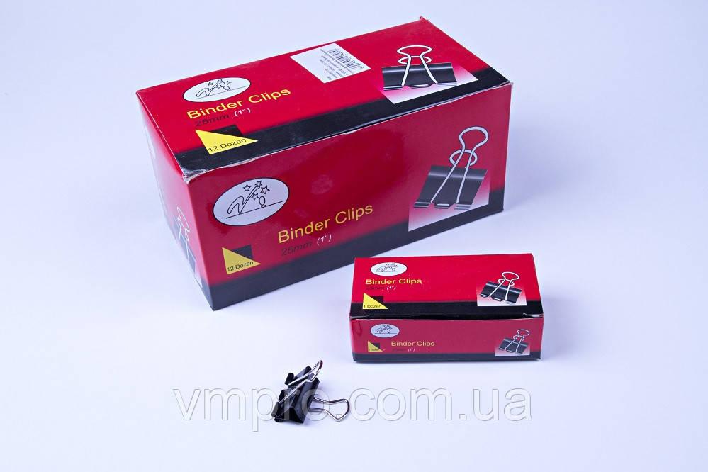 Биндер 25 mm №А-861,зажим для бумаг, 144 шт/блок