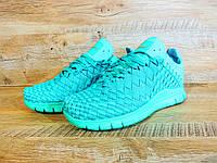 Кроссовки женские Nike Free Run Inneva Woven D134 бирюзовые