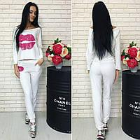Спортивный женский костюм  Губы