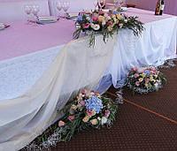 """Оформление свадебного зала живыми цветами. Оформление свадьбы """"Европейская"""""""""""