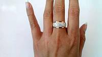 Женское кольцо Дюна со вставкой золота, фото 1