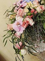 Свадебные аксессуары- букет невесты, бутоньерка, браслет, украшение для прически.