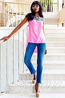 Стильная розовая туника Олимпия Jadone Fashion 42-50 размеры