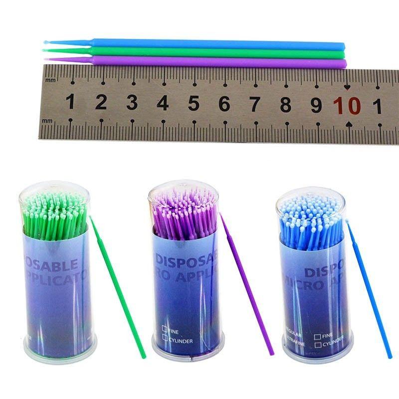 Аппликаторы fine (микробраши), зеленый, 100шт. NaviStom