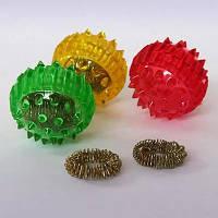Лечебный комплект су-джок Ежик большой+1 кольцо