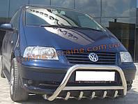 Защита переднего бампера кенгурятник из нержавейки на Volkswagen Sharan 1995-2010