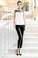 Стильная молочная туника Олимпия Jadone Fashion 42-50 размеры
