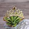 Повязка - корона детская резинка золотая для волос диадема для девочки украшения для волос, фото 2