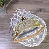 Повязка - корона детская резинка золотая для волос диадема для девочки украшения для волос