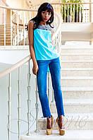 Стильная голубая туника Олимпия Jadone Fashion 42-50 размеры