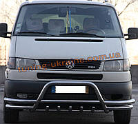 Защита переднего бампера кенгурятник из нержавейки на Volkswagen T4 1990-2003