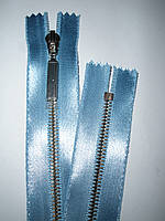 Молния металлическая неразъемная на атласной основе 35см тип 3, фото 1