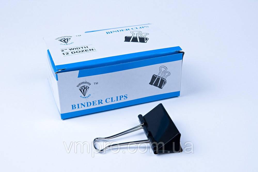 Биндер 51 mm №А-864,зажим для бумаг, 12 шт/блок